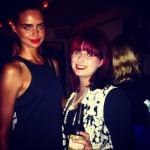 With the stunning Samantha Harris